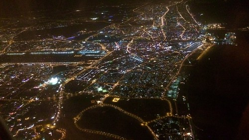 Coming into land in Dubai