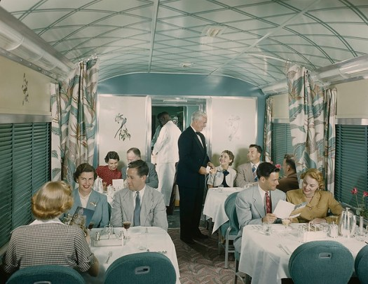 Southern Pacific Sunset Limited Diner, Budd Company, from SMU Collections, Flickr