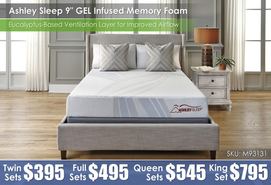 M93131 Ashley Sleep 9in Gel Infused Memory Foam