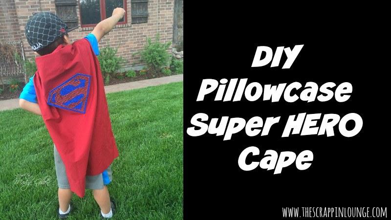 Superman DIY pillowcase super hero cape