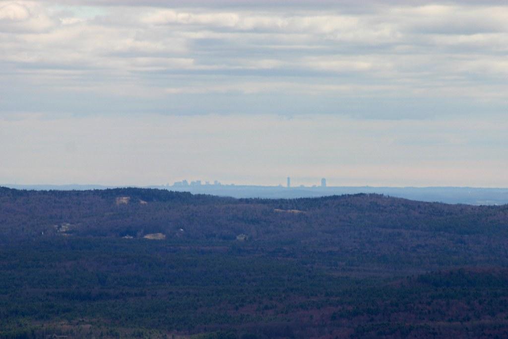 Boston Skyline from Mt Monadnock  Ive never seen it