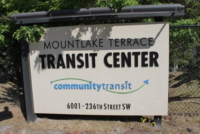 Mountlake Terrace TC entrance sign