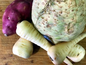 Batata roja, chirivía y apionabo