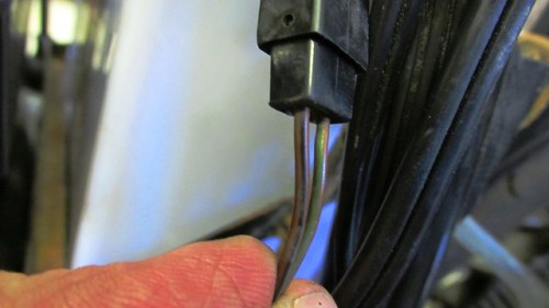 Neutral Switch (Brown with Black, Front) & Oil Pressure (Brown with Green, Rear) Wires