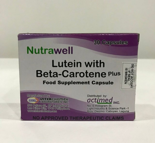 Lutein with Beta Carotene Plus