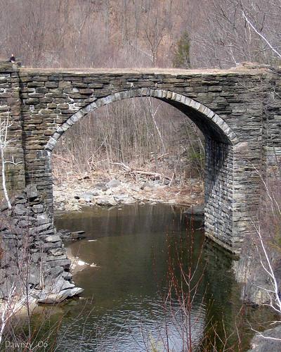 Keystone Arch Bridge  Chester MA A former train bridge