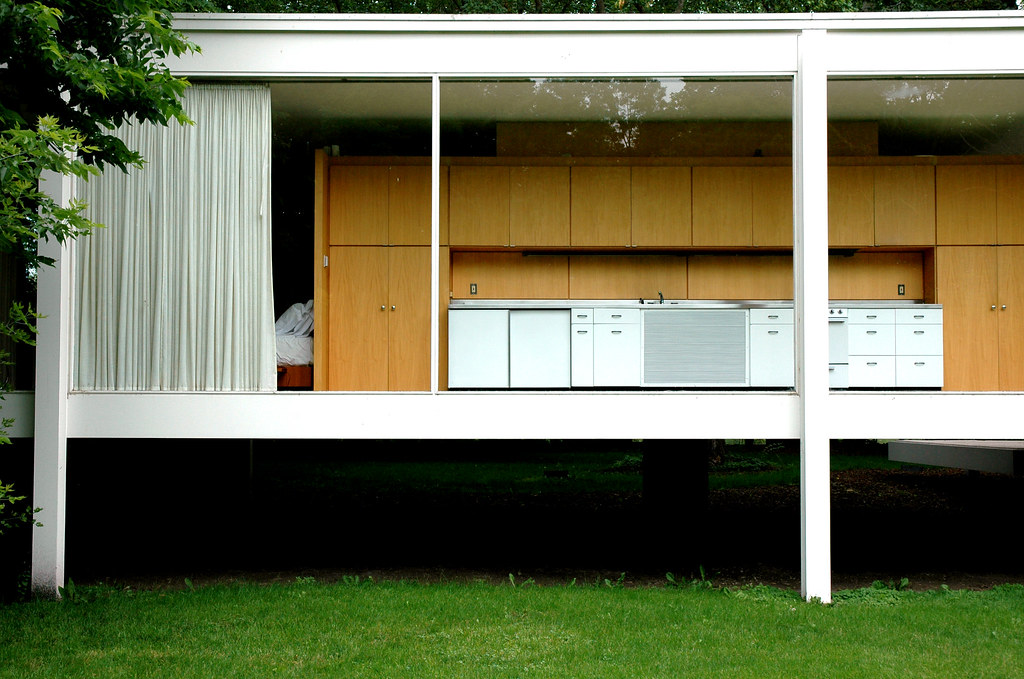 the galley  Farnsworth House Plano IL Architect Ludwig