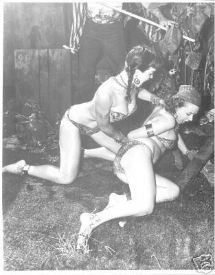 erotic women wrestling catfight drawings