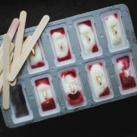 Strawberries + Kefir Popsicles