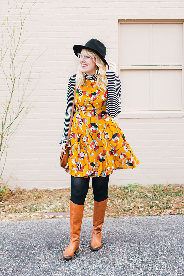 austin style blog tissue turtleneck layered modcloth dress4