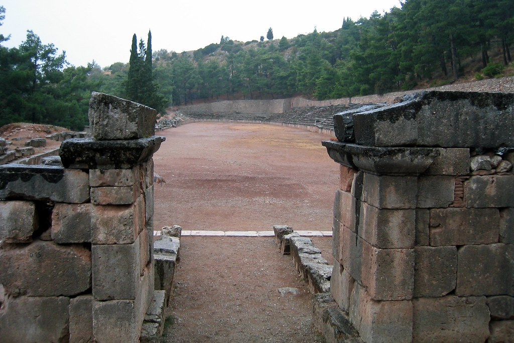 Greece  Delphi Stadion  Starting Line  The Ancient