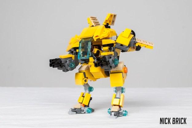 lego mech how to build