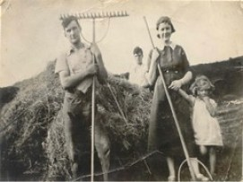 Tom Lord's family haymaking