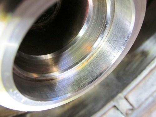 Rear Wheel Outer Wheel Bearing Race Shows No Binneling or Damage