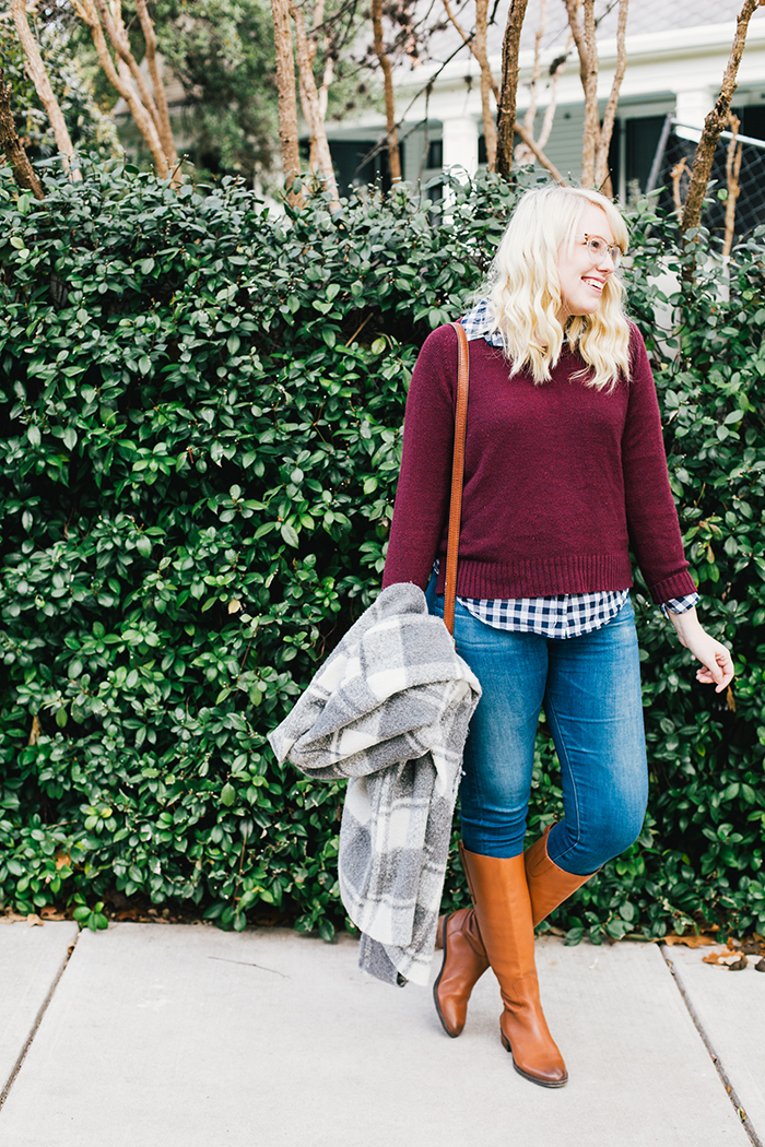 austin style blogger gingham winter outfit18