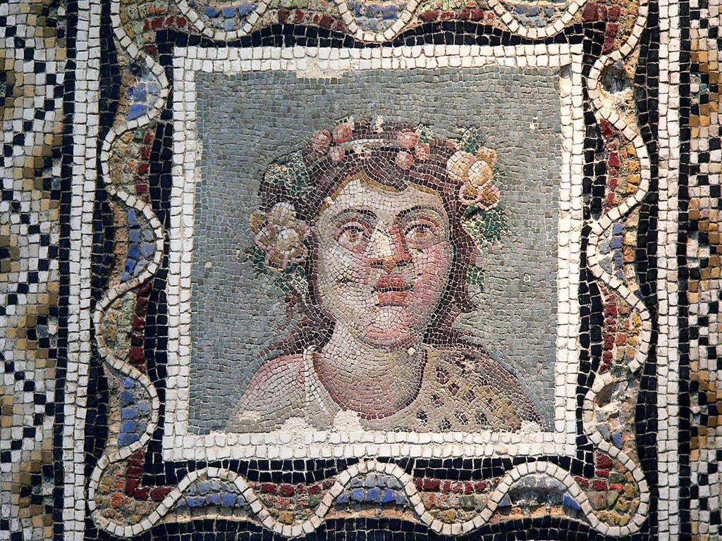 Opus Vermiculatum Mosaic Pavement Depicting Dionysus Bacc