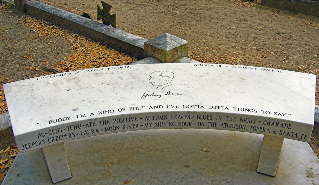 Johnny Mercer Grave A Simple Yet Unique Tribute To A