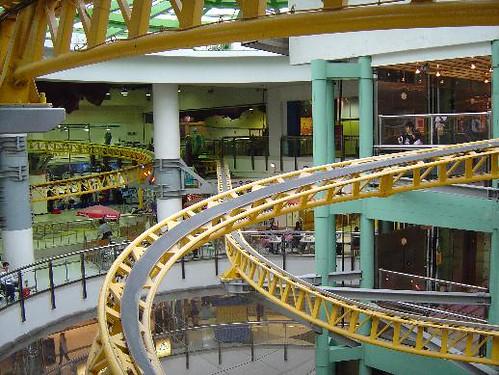 Hong Kong A Roller Coaster on the Top Floors of a Shoppin