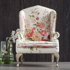 Floral Upholstered Chair Baby 1 4 Scale Doll Wingback With Upholstery Flickr By Furniture In