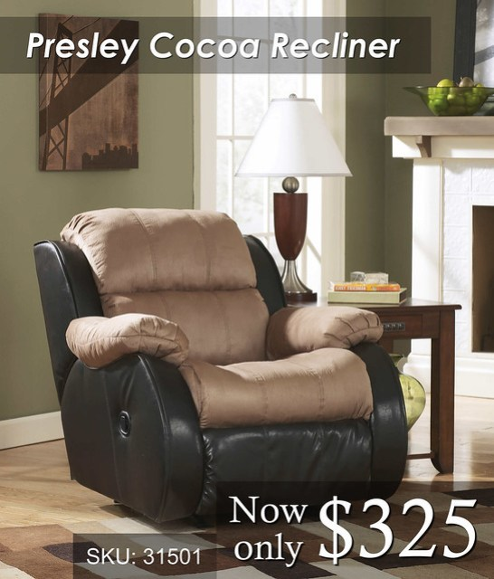 Presley Cocoa Recliner