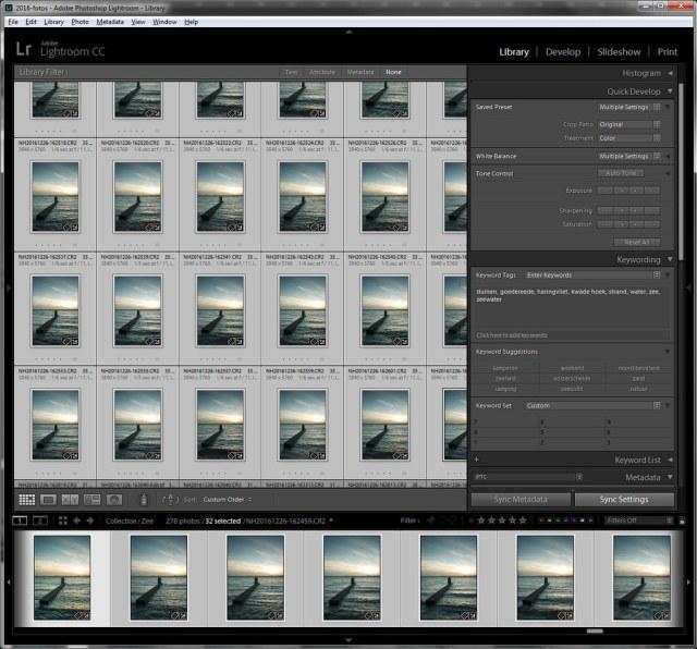 Kopieer de bewerking naar alle andere foto's die samengevoegd moeten worden.