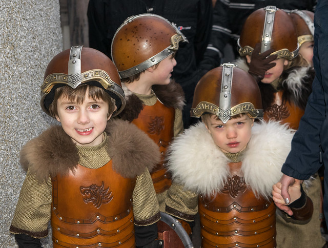 Up Helly Aa - mini Vikings
