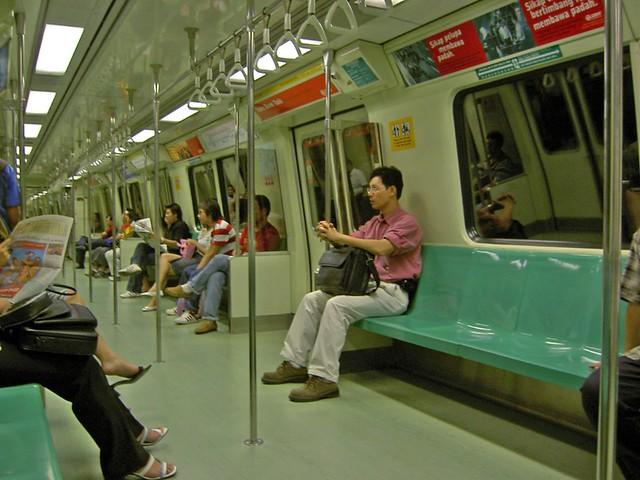 SMRT MRT interior single cabin  Mr Dew  Flickr