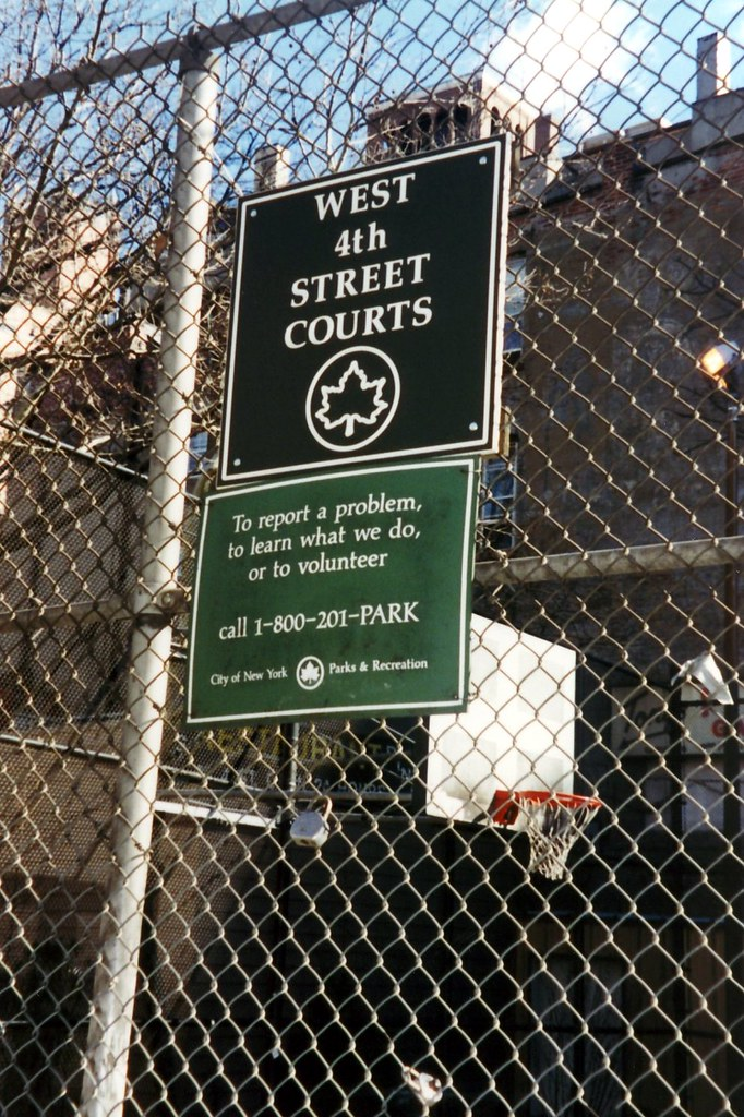 Nyc Greenwich Village West 4th Street Courts The West