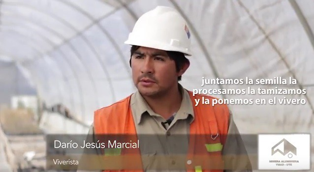 Dario Jesus Marcial. Viverista. Minera Alumbrera.