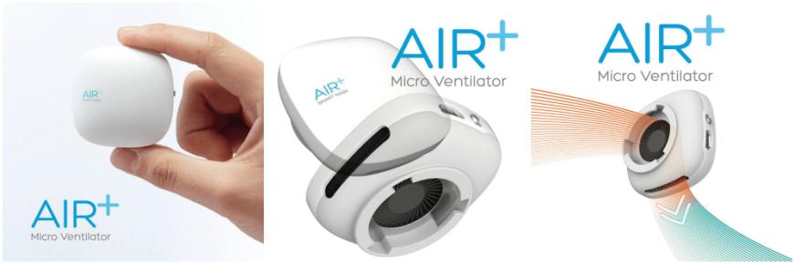 AIR+ Micro Ventilator Collage