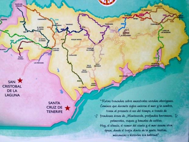 Mapa rutas Anaga Tenerife