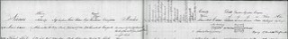 Prison record of revolt leader Mark Caesar: 1850
