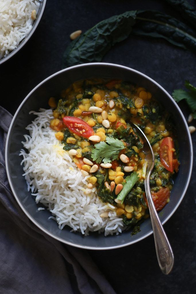 Healthy Creamy Kale Lentil Daal -Indian style, Vegan #indiandaal #vegetarian