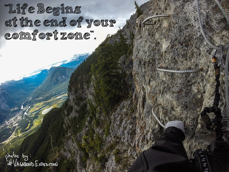 life begins at the end of your comfort zone (via ferrata)