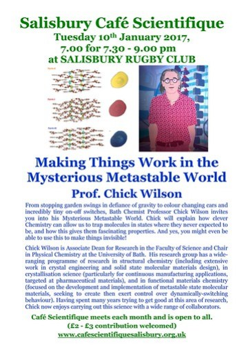 Poster for Prof. Chick Wilson