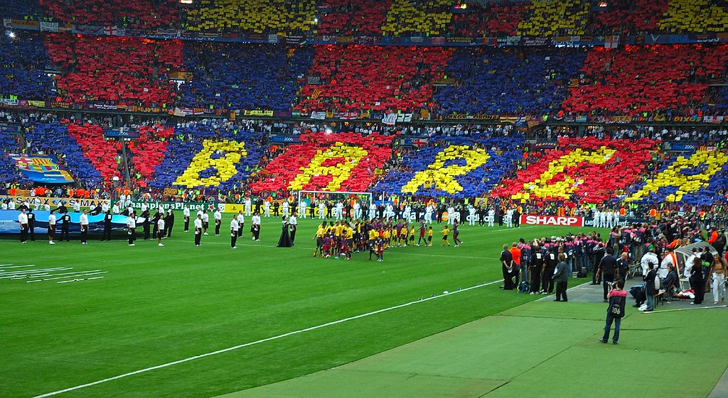 Bara fans  The barca fans looked great because I was in