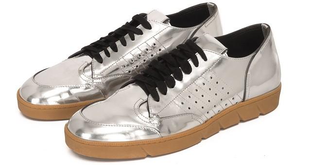 Silver mirror sneakers
