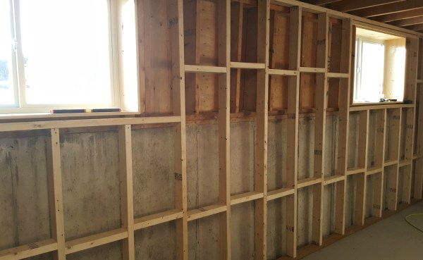 Turtles And Tails Basement Wall Framing & Insulating