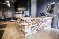 Reclaimed Wood Reception Desk  BWC