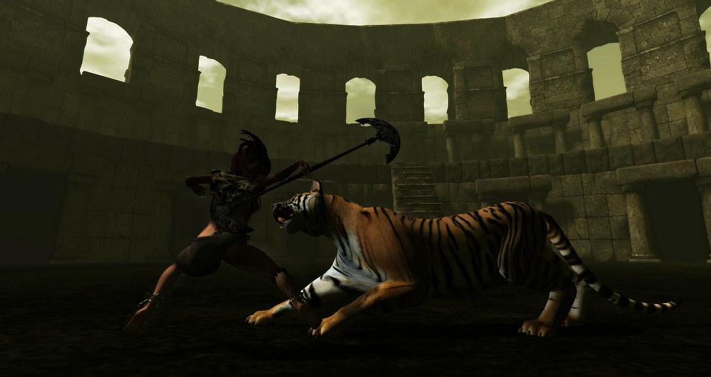 Gladiatrix  Arena Fight Second Life Machinima  Watch