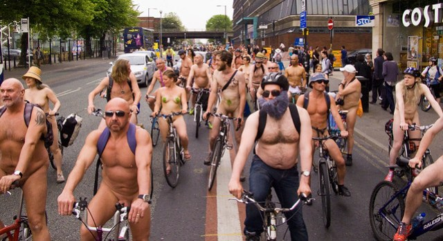 Manchester World Naked Bike Ride 2015