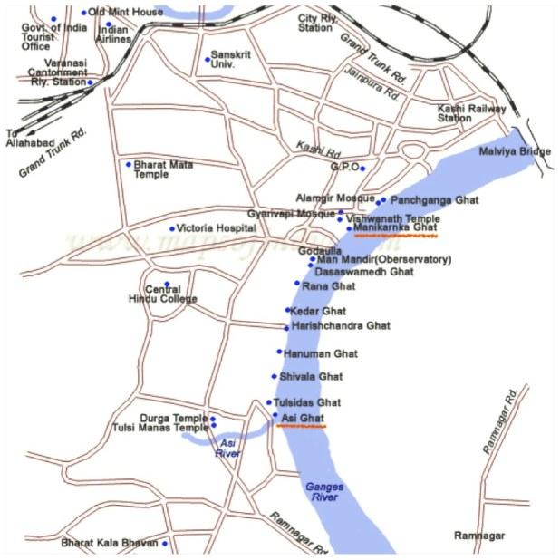 Mapa Ghat Varanasi