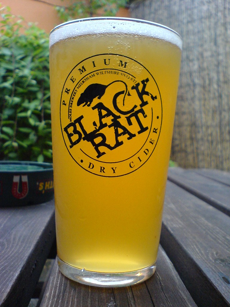 Black Rat Cider  Proper scrumpy cider from Moles Brewery in  Flickr
