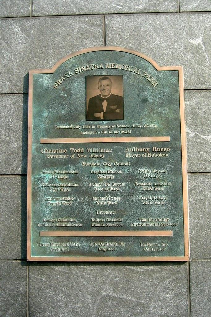NJ  Hoboken Frank Sinatra Memorial Park  plaque  Flickr