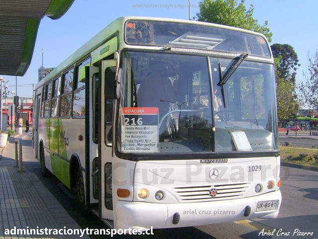 Transantiago 216 | Subus | Marcopolo Torino - Mercedes Benz / UK8061