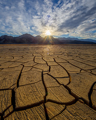Cracked mud in Death Valley