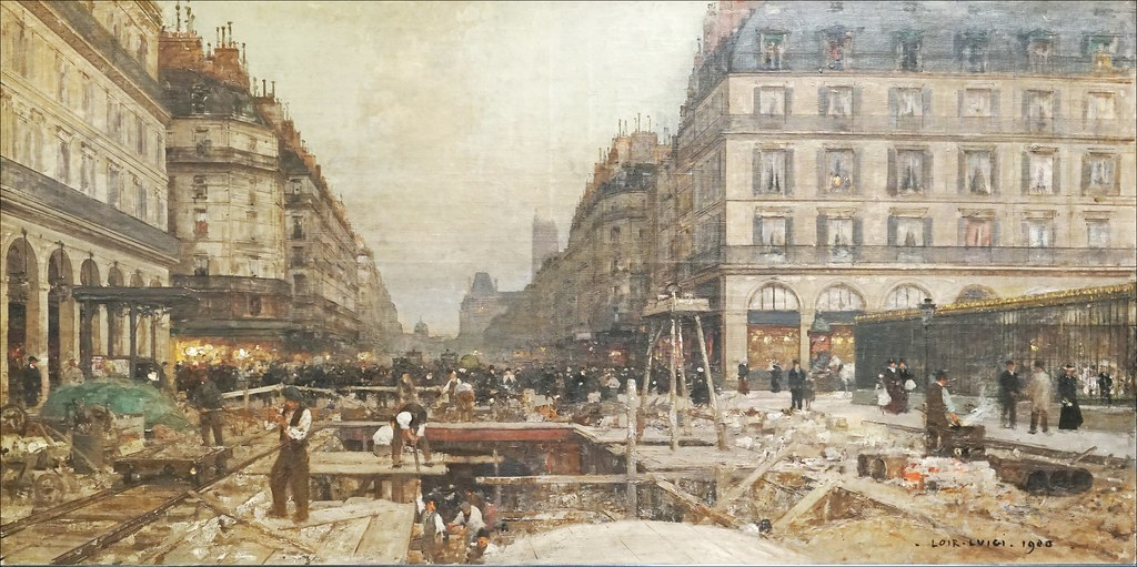 Construction du mtropolitain de Luigi Loir muse dart e  Flickr