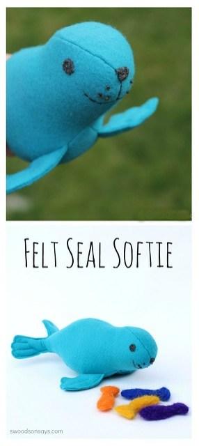 felt seal softie toy