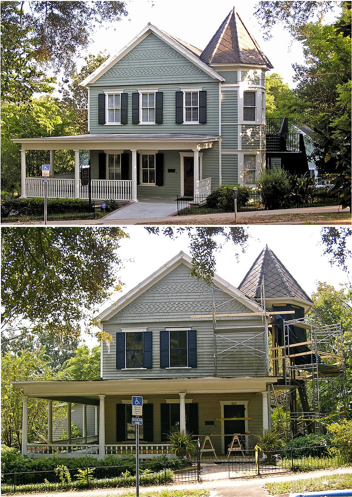Victorian house during and after renovation  Originally