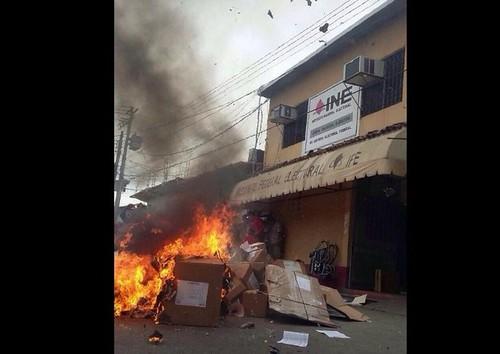Confirma INE destrucción de papelería electoral en Oaxaca